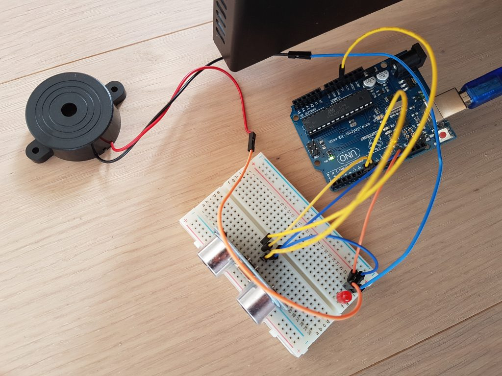 Testaufbau Ultraschallsensor Arduino