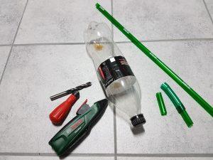 eine rakete mit einer flasche bauen