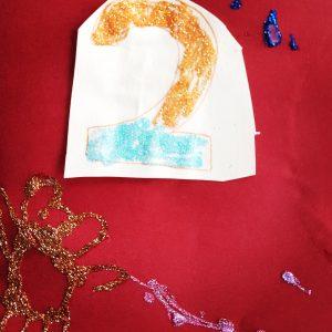 Geburtstagskarte mit Glitter